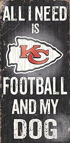 Fan Creations N0640 Kansas City Chiefs Football And My Dog Sign