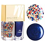 Myglamm Two Of Your Kind Confetti and True Nail Polish, Blue