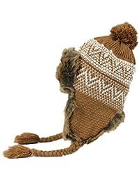 Beanie Sombrero De Aviador Mujeres Sombrero Invierno De De Punto Especial  Estilo Ruso Earflap Hat Gorra e01c21748e3
