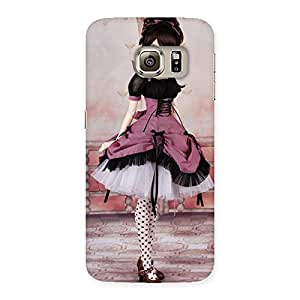 Cute Cute Dancing Girl Multicolor Back Case Cover for Samsung Galaxy S6 Edge