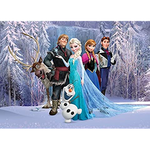 Frozen, El Reino Del Hielo - Personajes, Olaf, Sven, Anna, Kristoff; Elsa, Hans Póster Fotomural (160 x