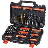 "Black+Decker A7200-XJ - Kit para taladrar y atornillar 109 piezas.  Brocas ""Titanio"""