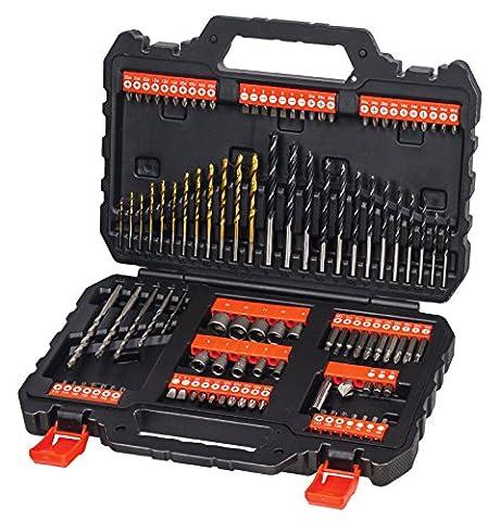Black + Decker A7200-XJ Set de forets et douilles 109 pièces