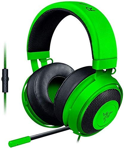 Zixin Headset Kristall Computer for Handy-Spiele oder Video Playbackheadset-Weiß, Farbe: Rosa (Farbe: Grün) (Color : Green)