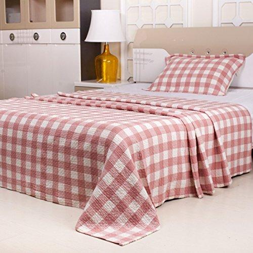 Faltig Baumwolle Bettwäsche Handtücher Kleine Quadratische Blätter Leute Siesta Decke Handtuch Decke Klimaanlage Decke Quilt Kind,Pink (Das Blatt Menschen, Bettwäsche)