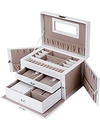 Songmics Boîte à bijoux Mallette/ coffrets/ boîte à maquillage, bijoux et cosmétique beauty Case JBC121W
