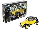 Revell Modellbausatz Auto 1:24 - Citroen 2CV Ente Charleston im Maßstab 1:24, Level 4, originalgetreue Nachbildung mit vielen Details, 07095