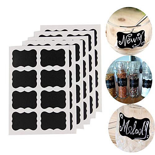 Monthly Plan Calendar Chalkboard - 10pcs Reusable Candy Jam Jars Label Stickers Storage Bottle Container Blackboard Chalk Board - Computers Home Accessories Health Events Sports Cell Cas -