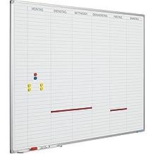 Tagesplaner Softline Rahmen 8mm, Arbeitstagen DE. inkl Tagesstreifen (90 x 120 cm)