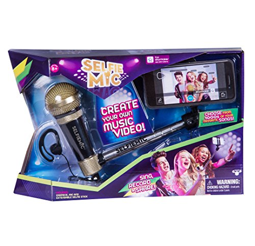 Preisvergleich Produktbild SelfieMic with Adjustable Selfie Stick With Working Microphone,  Earpiece and Free App
