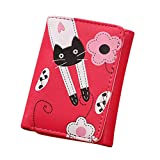 Porte-monnaie femme ❤ Grande Capacité Lady en cuir Portefeuille ❤ Embrayage Fleurs Porte-cartes (Hot Pink)