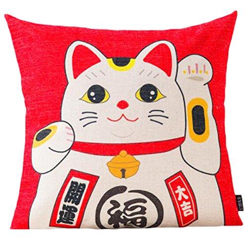 Black Temptation Style Japonais Coussin d'oreiller Confortable pour la Maison/Sushi Restaurant 45x45cm -A28