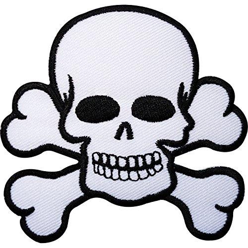 zte Knochen aufgestickt Eisen nähen auf Patch Flagge Pirat Fancy Kleid Badge ()
