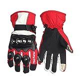 LKN Motorradhandschuhe fallschützend Winter Warm Sport Skifahren Handschuhe Rot