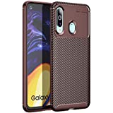 Golden Sand Compatible with Samsung Galaxy M40 Back Cover Case Aramid Carbon Fibre Shockproof TPU Brown -Ultimate Protection from Drop in Slim Profile