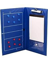 Cawila Taktikmappe Trainertasche - Bolsa para material de voleibol, color azul, talla m