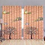 Akshya kids pattern digital print blackout curtains