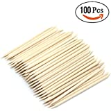 IDS 100 Pcs Nail Art Wood Sticks Cuticle Pusher Wooden For Nail Art Care Manicure Nail Tools