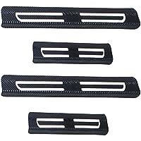 Decoración del coche puerta Sill Scuff Plate Door Sill protectores de fibra de carbono vinilo adhesivo 4piezas