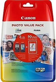 Canon PG-540XL+CL-541XL Cartuchos de tinta BK+Tricolor XL para Impresora de Inyeccion Pixma TS5150,5051-MX375,