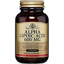El ácido alfa lipoico, 600 mg, 50 comprimidos Solgar -