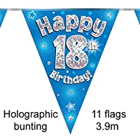 Oaktree 631342 18th Birthday Blue Bunting - 3.9m (1)