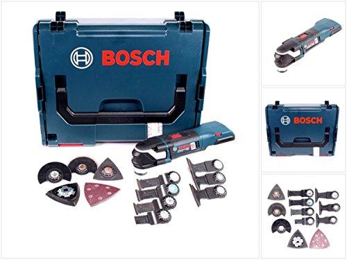 Bosch GOP 18 V-28 Professional Akku Multi Cutter Multifunktions Werkzeug Solo Gerät mit Zubehör Set in L-Boxx