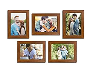 Art Street and Painting Mantra Unite Set of 5 Individual Photo Frame/Wall Hanging for Home Décor - Brown
