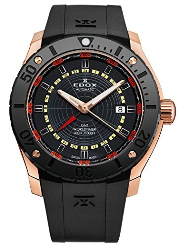 Edox Class 1Automatic GMT World Timer 9300537R NOJ