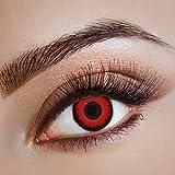 Karneval Klamotten Kontaktlinsen farbig-e Motiv-Linsen Jahreslinsen ohne Stärke Halloween Fasching rot schwarz Drache Drachenauge