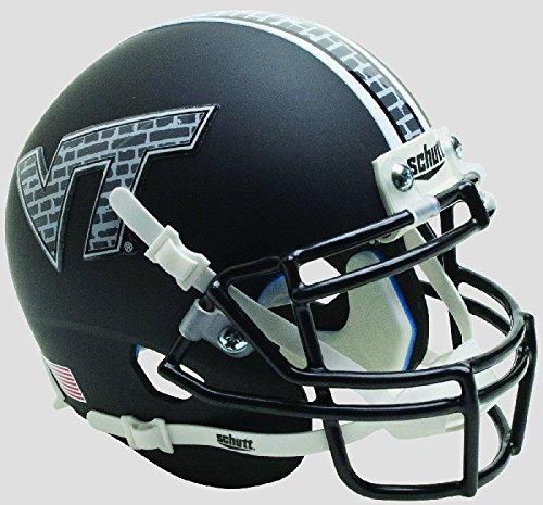 Schutt NCAA Virginia Tech Hokies Mini Authentic XP Football Helmet, Black Brick Alt. 12