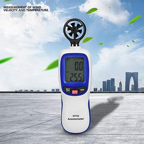 Digitales Mamometer, WT82 Digitales Handanemometer Temperatur Windgeschwindigkeit Geschwindigkeitsanemometer