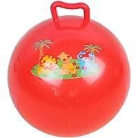 STOBOK Palla con Tramoggia Palla Rimbalzante con Manico Buttafuori Canguro Palla da Salto per Bambini 25 Cm Colore…