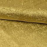 Pannesamt Stoff Uni Gold einfarbig Karnevalskostüme