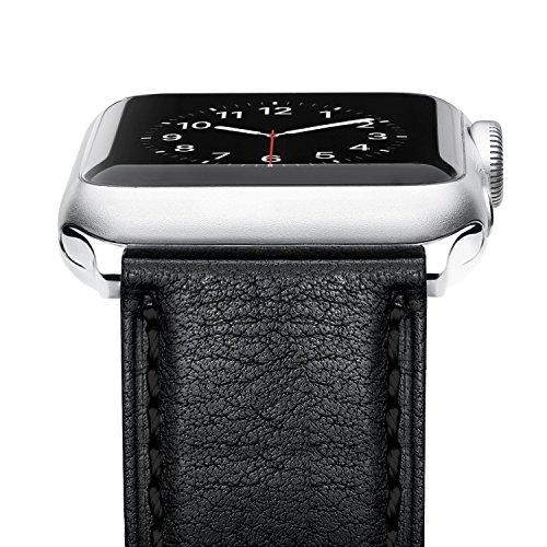 Preisvergleich Produktbild Benuo für Apple Watch 42mm Armband von iWatch Series 4 / 3 / 2 / 1 (42mm,  Schwarz)
