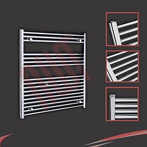 900mm (w) x 900mm (h) - Radiateur sèche-serviettes plat chromé Barre Horizontale Diamètre: 22mm, Bar Modèle: 3 + 4 + 10