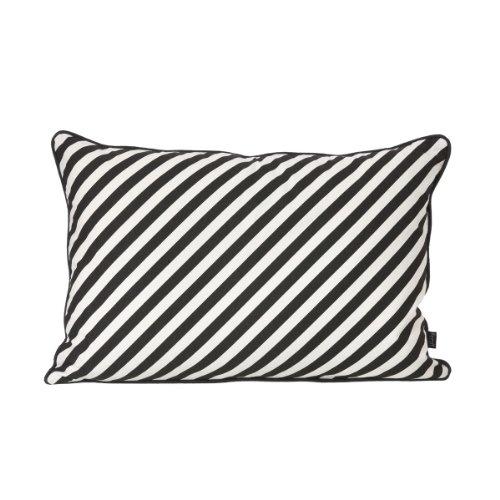 Ferm Living Kissen 40 x60 cm schwarz weiß gestreift Black Stripe Cushion