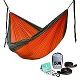 ODOLAND Hängematte Camping leichte tragbare Nylon für Trekking Reisen Strand