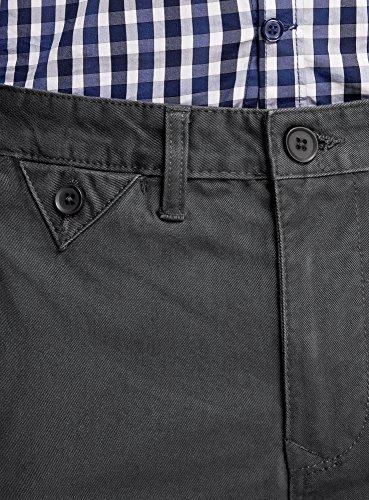 oodji Ultra Homme Pantalon Chino en Coton Gris (2500N)