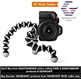 #4: GEORCHIFF® Flexible Light weight GORILLA TRIPOD FoR | Digital Camera | Heavy weight DSLR with heavy lenses | Smartphones | with FREE Universal Mobile Tripod Holder [ BLACK & WHITE ] [ 12 INCH ] [ LARGE ]