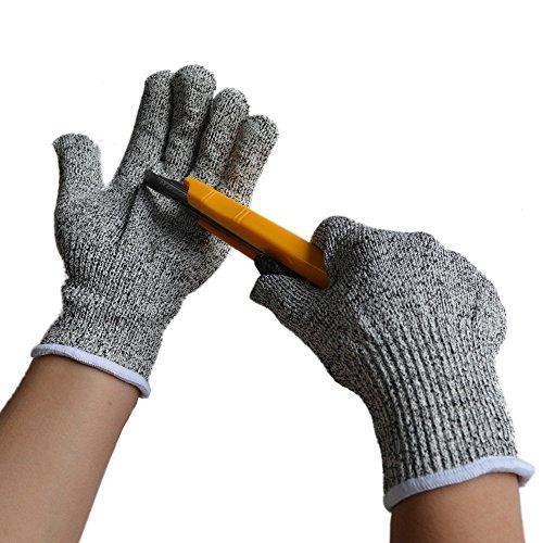 Kepmem Schnittschutz Handschuhe Sicherheit Küchenhandschuhe Lebensmittelqualität Level 5 Hohe Leistung Handschuhe 1 Paar (Medium)