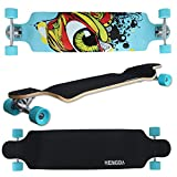 Hengda® Long Board Skateboard Mini Cruiser Board Komplettboard 104cm Kugellager ABEC-9 Top mount Rollen 70x51mm 9 Lagen Ahornholz