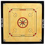 #1: Gsi Khel Mandir Gloss Finish Carrom Board With Coins, Striker And Powder (Large 32 Inch 4Mm) - Brown