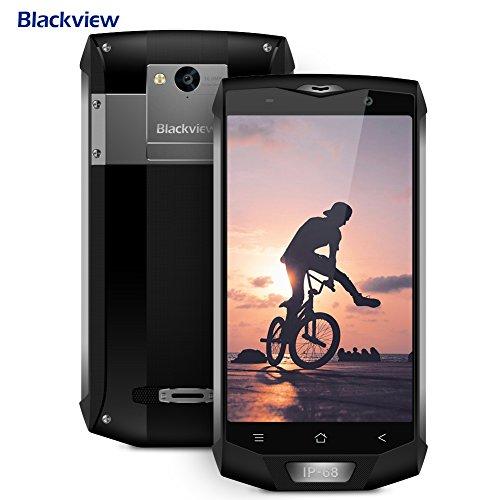 Blackview Telephone Portable Debloqué, BV8000 Pro 6+64GO 8+16MP de Caméra, Smartphones Etanche avec 4180mAh Batterie 9V/2A Android 8.0, Outdoor Smartphone Pleine Netcom Anti-Choc/Anti-Poussière-Gris