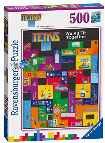Ravensburger 15002 Tetris-We All Fit Together Rompecabezas de 500 Piezas,