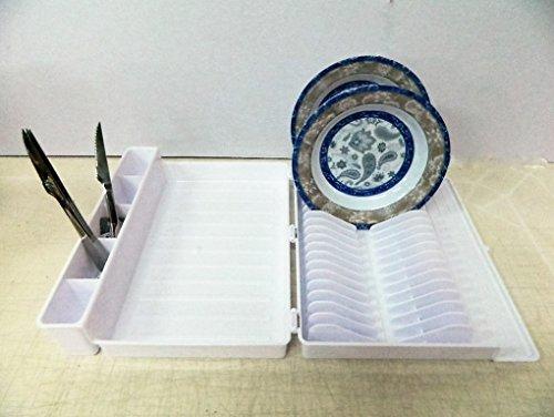 Valise Égouttoir blanc Pliant Vaisselle Camping Car Sèche-Vaisselle Pliable