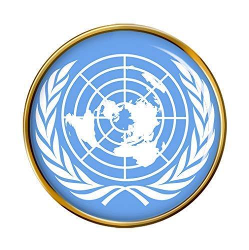 """""""Vereinten Nationen Flagge"""" Revers-anstecknadel"""