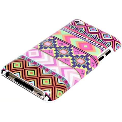deinPhone AR-180124 - Carcasa para Apple iPod Touch 4 4G, diseño de zigzag, multicolor