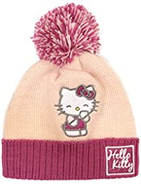6ce5f996931 Hello Kitty Official Licensed Girls Pink Beanie With Bobble Age 7-10 Years  Fleece Lined