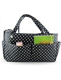 Periea sacs à main-motif -tilly organiseur polka dots blanc/noir